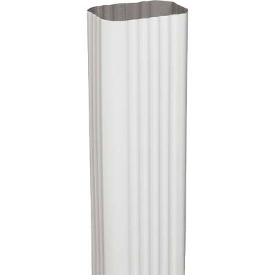 Spectra Metals 2 In. x 3 In. x 15 In. K-Style White Aluminum Downspout Extension