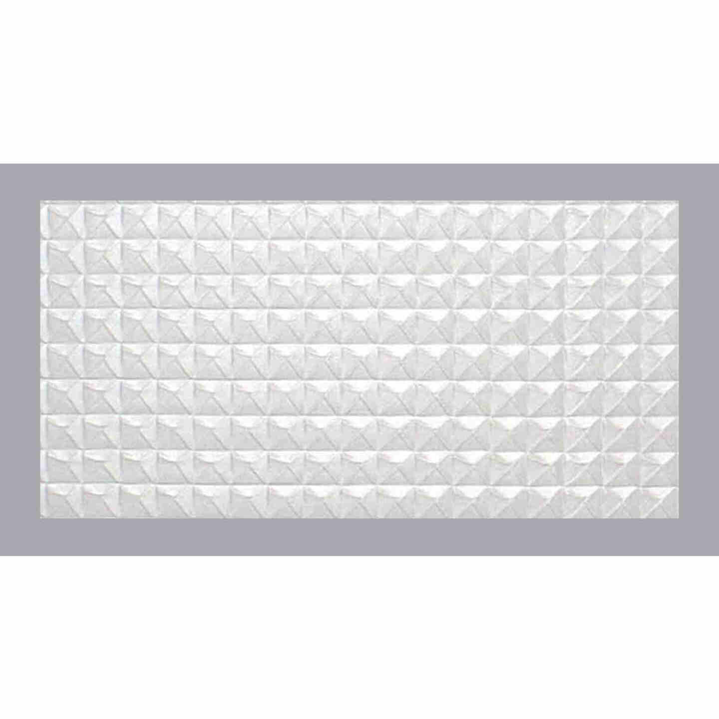 Parkland Performance SpectraTile Millennium 2 Ft. x 4 Ft. White PVC Diamond Pyramid Suspended Ceiling Tile  Image 2