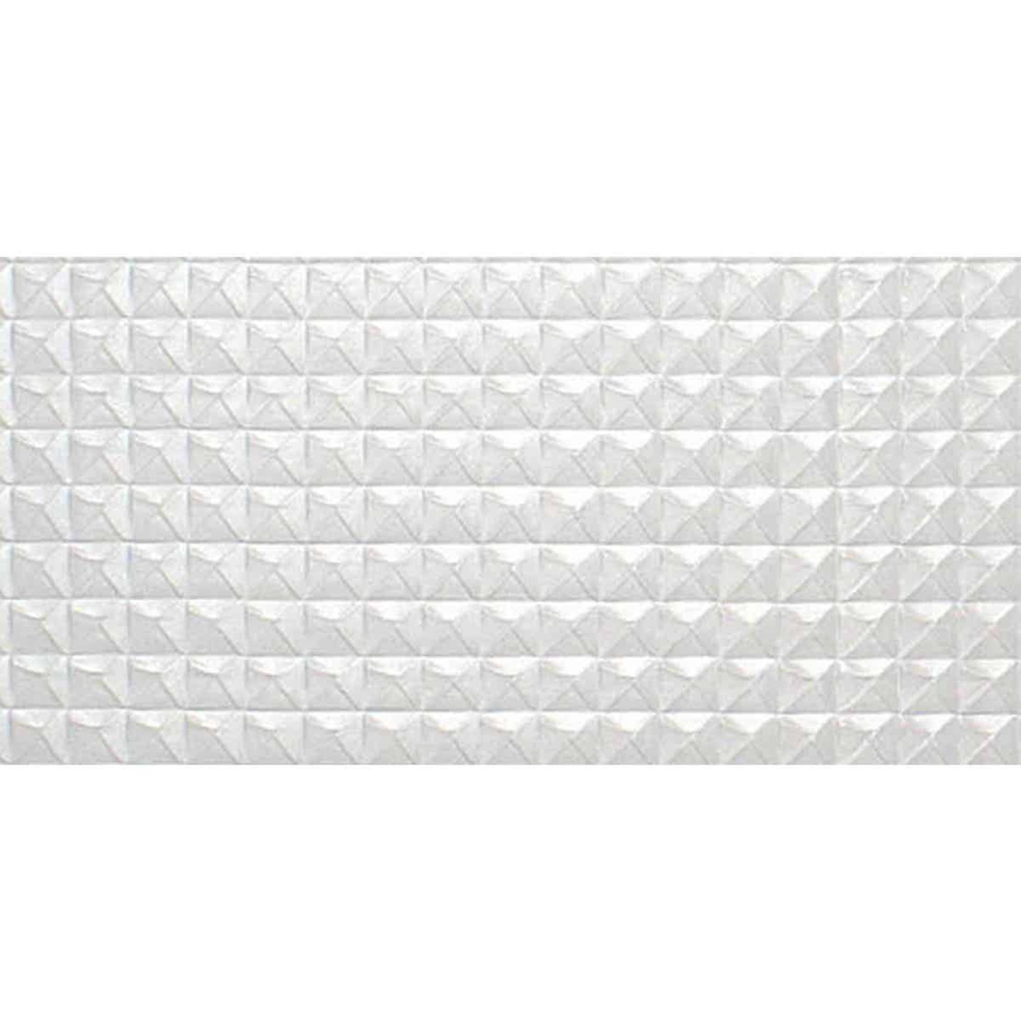 Parkland Performance SpectraTile Millennium 2 Ft. x 4 Ft. White PVC Diamond Pyramid Suspended Ceiling Tile  Image 3