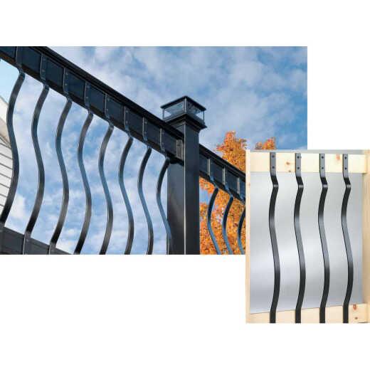 Deckorators 32-1/4 In. Black Aluminum Baroque Baluster (5-Pack)