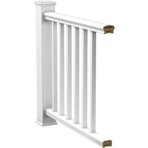 Deckorators CXT 6 Ft. White Square Railing Kit