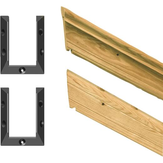 Outdoor Essentials 2 In. x 4 In. x 72 In. Pine Molded Cap Stair Railing Kit