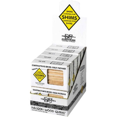 Nelson Wood Shims 8 In. L Beddar Shims (56-Ct.)