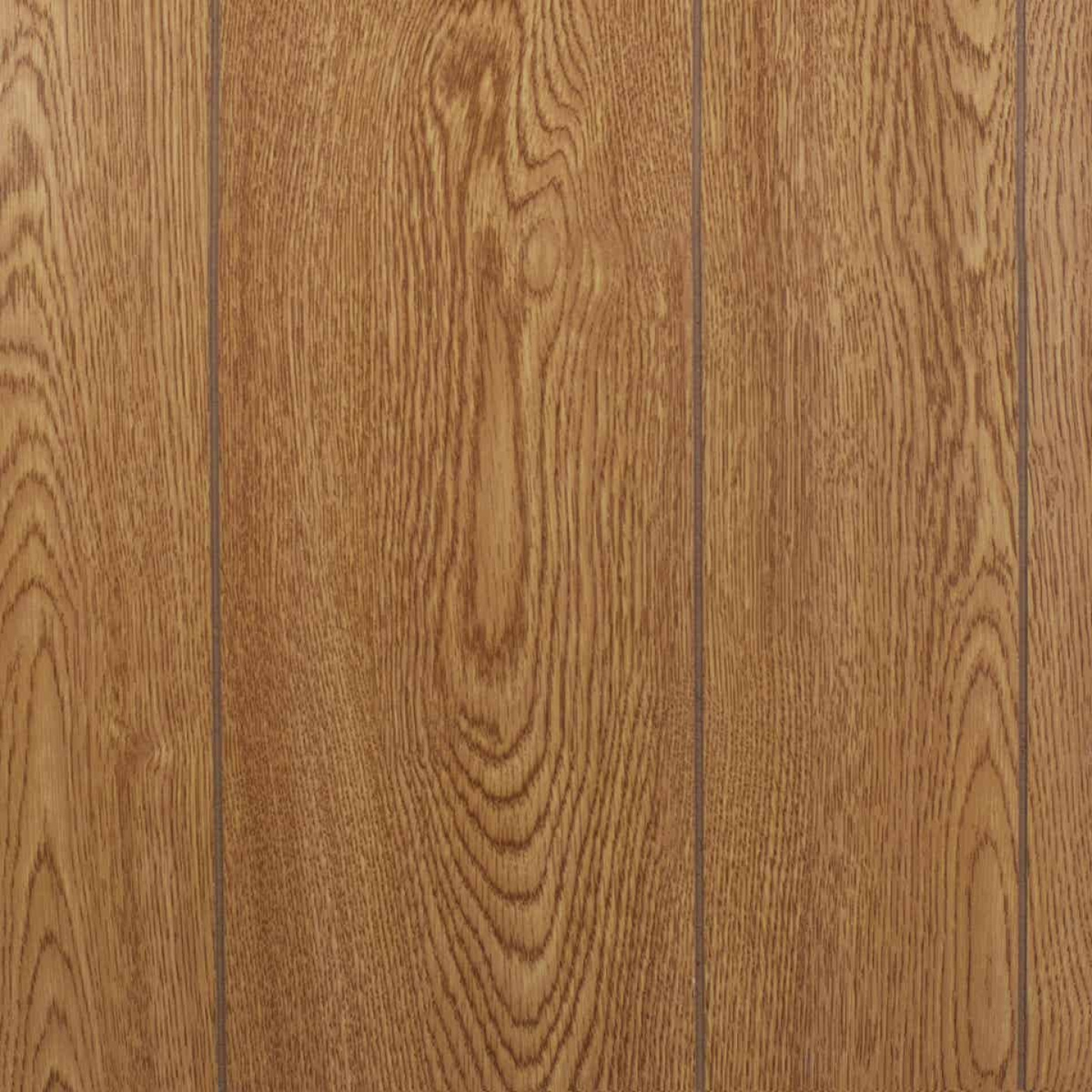 Global Product Sourcing 4 Ft. x 8 Ft. x 1/8 In. Honey Oak Random Groove Profile Wall Paneling Image 1