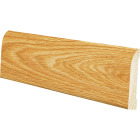 Inteplast Building Products 7/16 In. W. x 3-3/16 In. H. x 8 Ft. L. Majestic Oak Polystyrene Ranch Base Molding Image 1