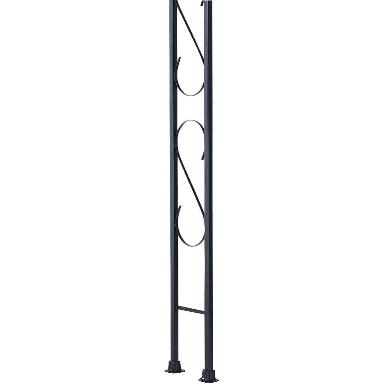 Gilpin Newport 9-1/2 In. x 8 Ft. Wrought Iron Railing Corner Iron Ornamental Column Image 1