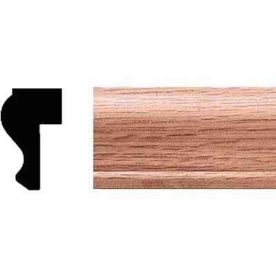 House of Fara 3/4 In. W. x 1-1/4 In. H. x 8 Ft. L. Solid Red Oak Detail Cap Molding