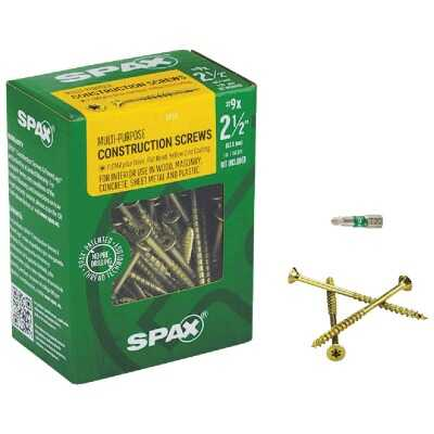 Spax #9 x 2-1/2 In. Flat Head Interior Multi-Material Construction Screw (1 Lb. Box)