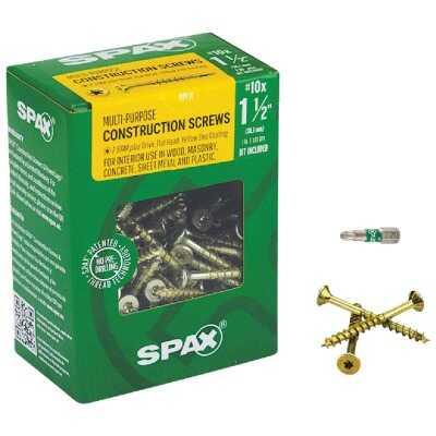 Spax #10 x 1-1/2 In. Flat Head Interior Multi-Material Construction Screw (1 Lb. Box)