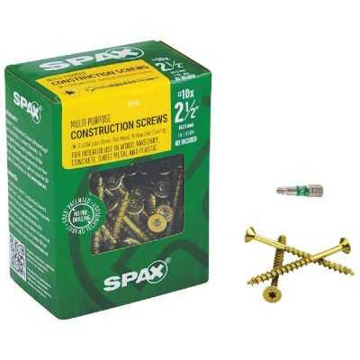 Spax #10 x 2-1/2 In. Flat Head Interior Multi-Material Construction Screw (1 Lb. Box)