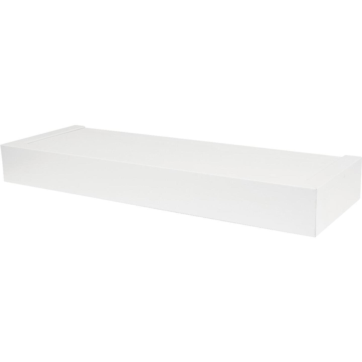High and Mighty 18 In. White Floating Shelf  Image 1