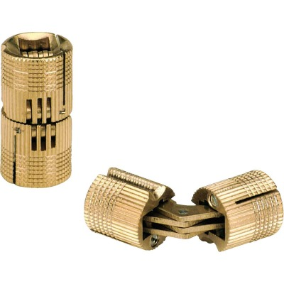SOSS Solid Brass 1/2 In. Invisible Barrel Hinge, (2-Pack)
