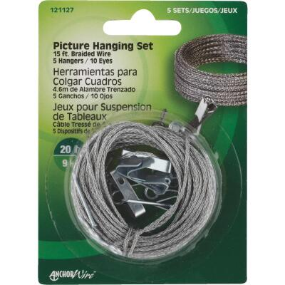 Hillman Anchor Wire 20 Lb. Capacity Picture Hanging Kit