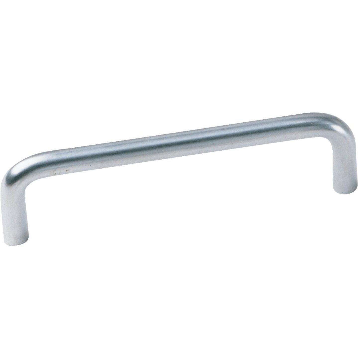 Laurey Satin Chrome Contemporary 4 In. Cabinet Pull Image 1