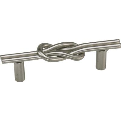 Laurey Satin Pewter Nantucket Center Knot 3 In. Cabinet Pull