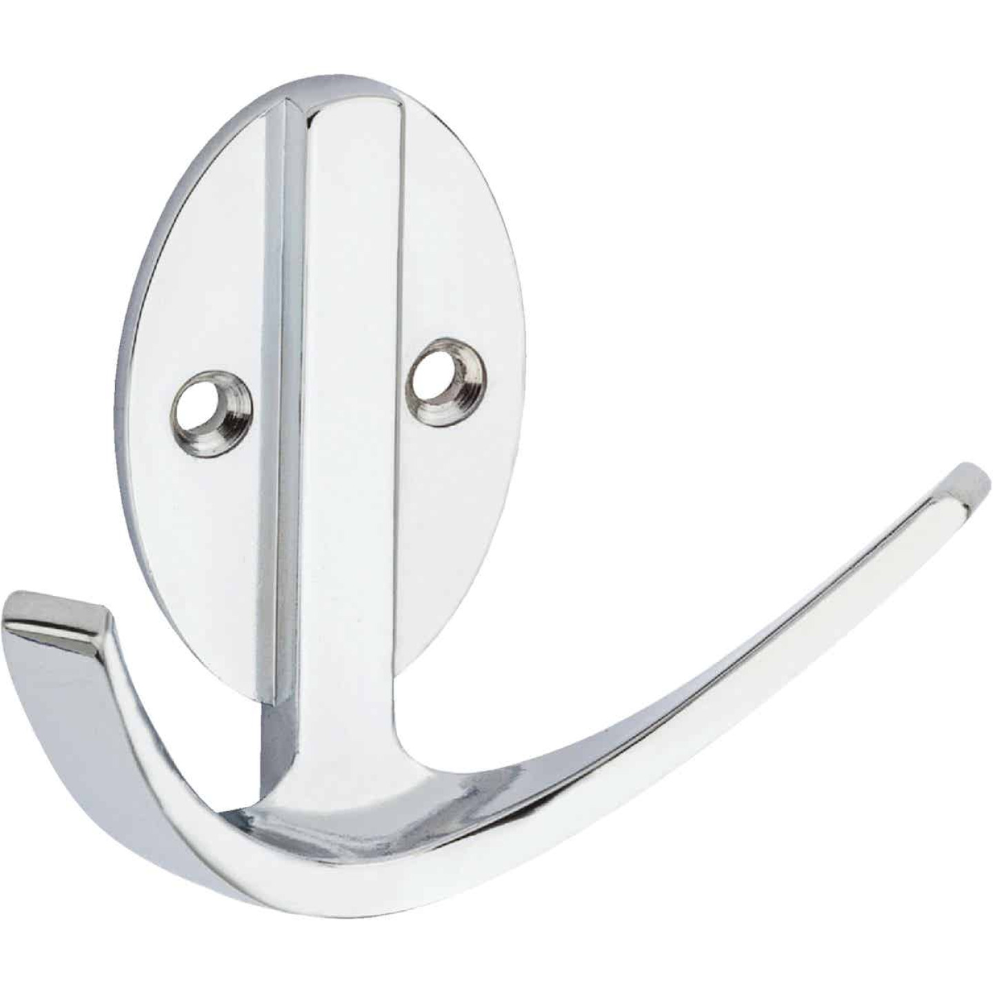 Stanley Home Designs Chrome Modern Double Robe Wardrobe Hook Image 1