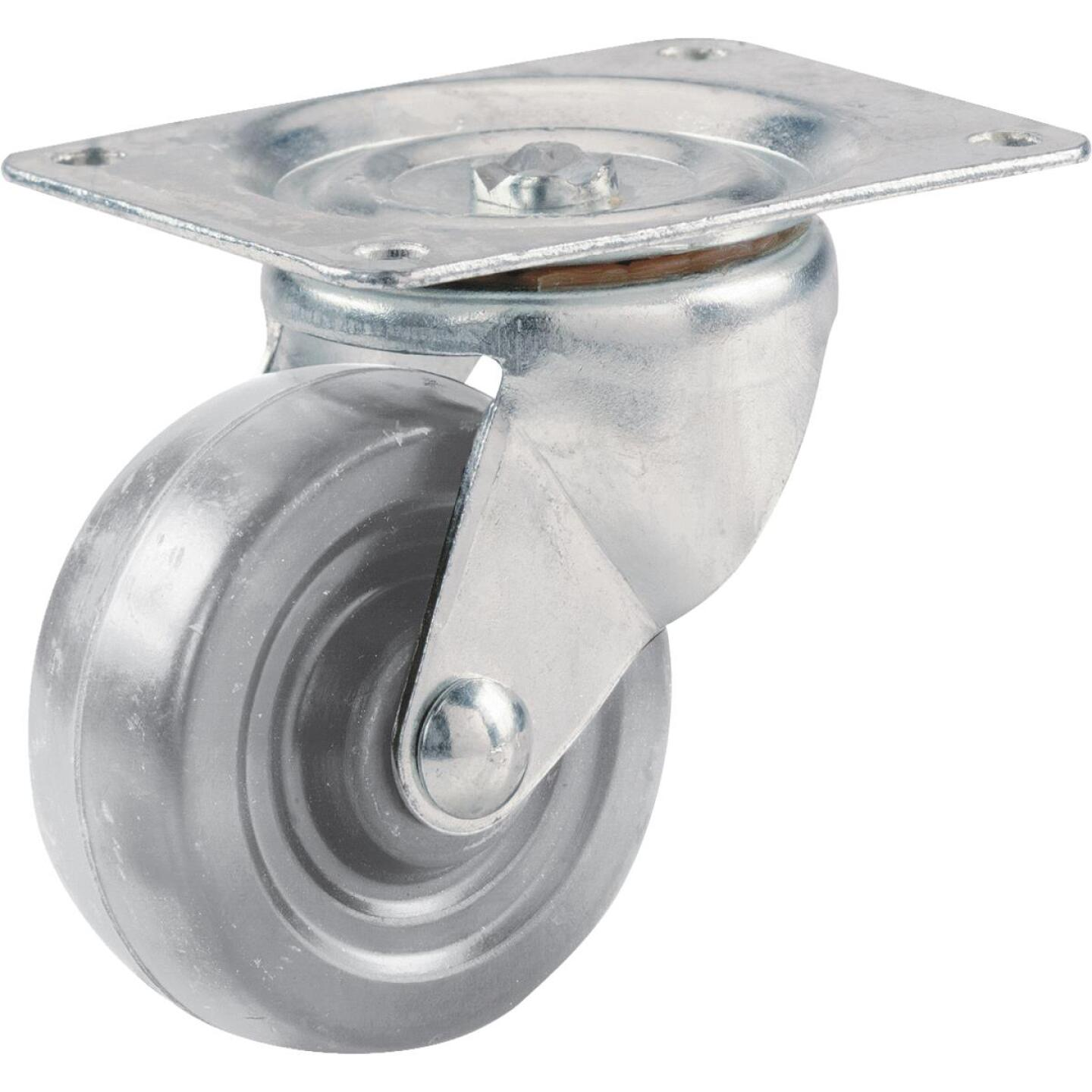 Shepherd 4 In. General-Duty Hard Rubber Swivel Plate Caster Image 1