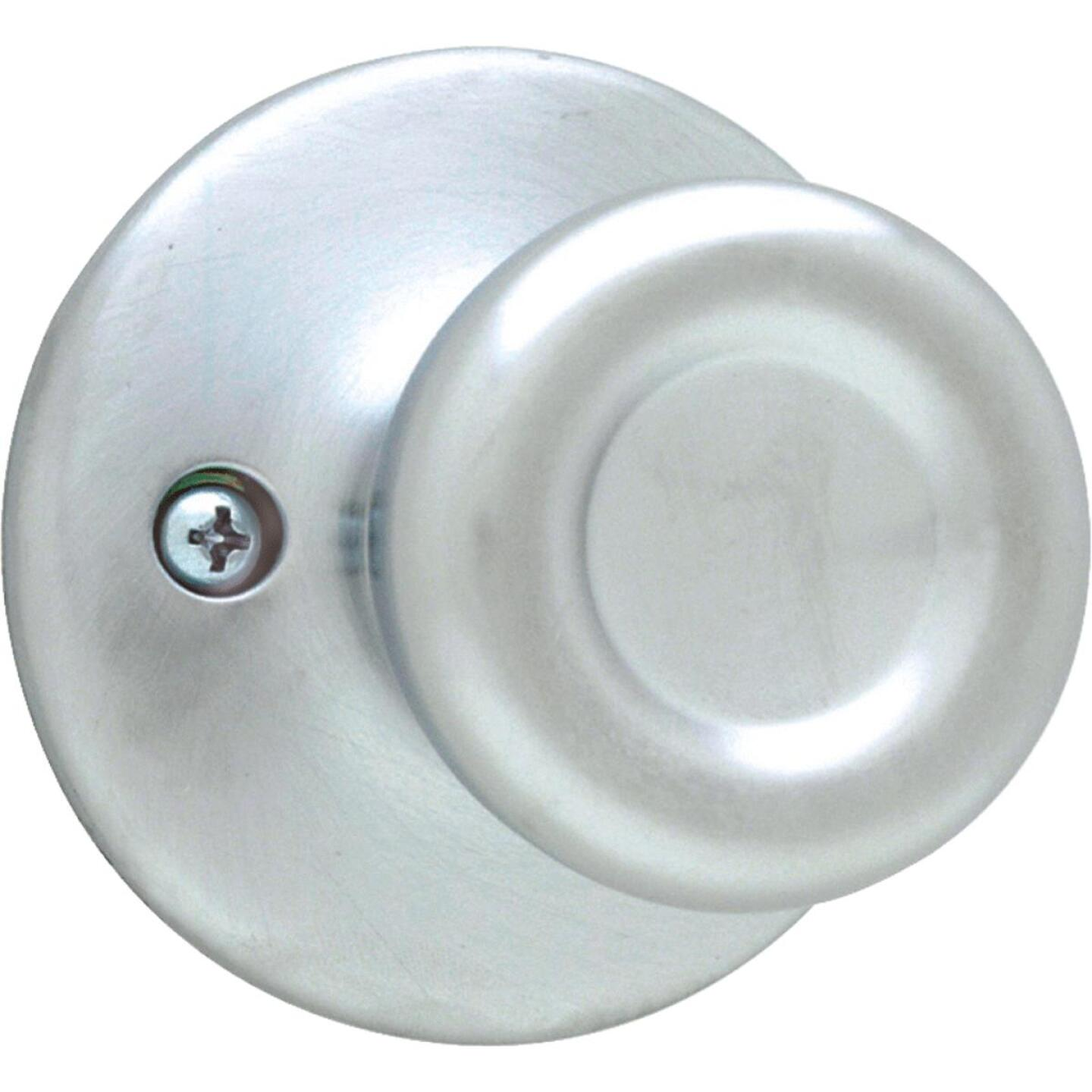 Kwikset Satin Chrome Tylo Dummy Door Knob Image 1