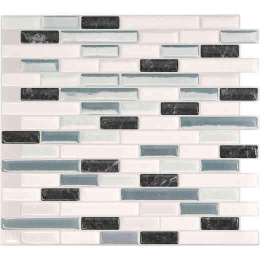 Smart Tiles Approx. 10 In. x 10 In. Glass-Like Vinyl Backsplash Peel & Stick, Muretto Brina Mosaic (4-Pack)