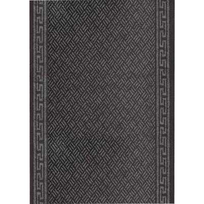 Multy Home Greek Key 26 In. x 60 Ft. Gray Carpet Runner, Indoor/Outdoor
