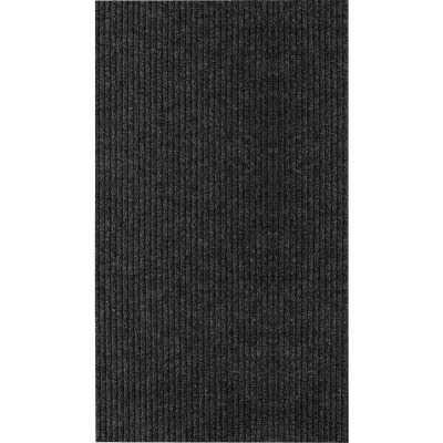 Multy Home Concord 26 In. x 45 Ft. Charcoal Carpet Runner, Indoor/Outdoor