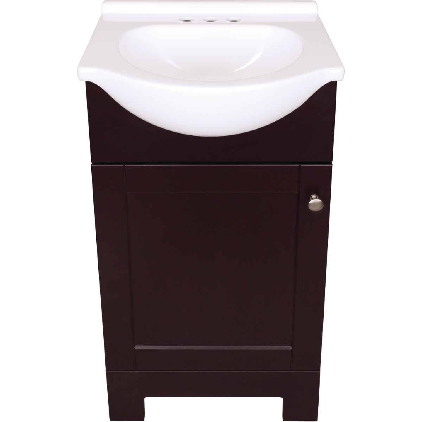 Continental Cabinets European Espresso 18 In. W x 33-1/2 In. H x 12-1/2 In. D Vanity with Cultured Marble Top Image 2