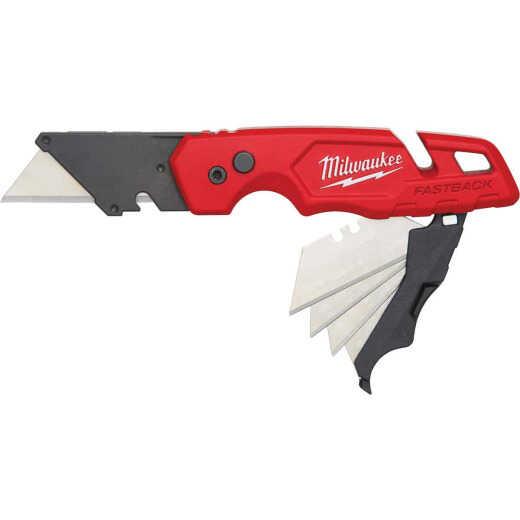 Milwaukee FASTBACK Folding Utility Knife with Blade Storage