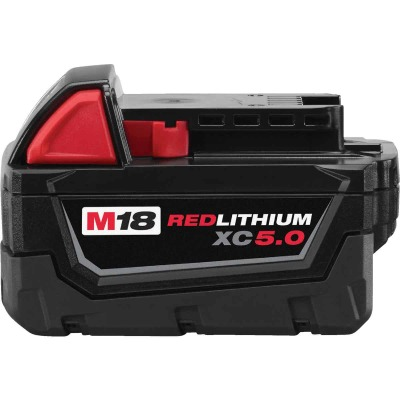 Milwaukee M18 REDLITHIUM XC 18 Volt Lithium-Ion 5.0 Ah Extended Capacity Tool Battery