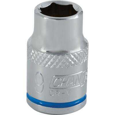 Channellock 3/8 In. Drive 9 mm 6-Point Shallow Metric Socket
