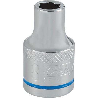 Channellock 1/2 In. Drive 8 mm 6-Point Shallow Metric Socket
