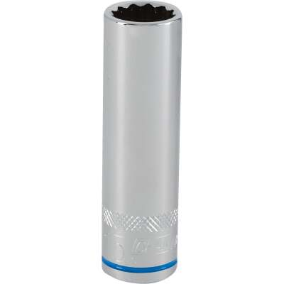 Channellock 1/2 In. Drive 15 mm 12-Point Deep Metric Socket