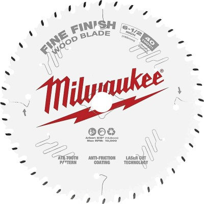 Milwaukee 6-1/2 In. 40-Tooth Fine Finish Circular Saw Blade