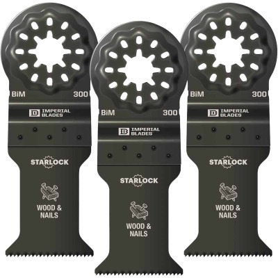 Imperial Blades Starlock 1-3/8 In. 18 TPI Wood/Nail Oscillating Blade (3-Pack)
