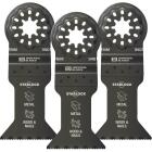 Imperial Blades Starlock 1-3/4 In. 18 TPI Metal/Wood Oscillating Blade (3-Pack) Image 1