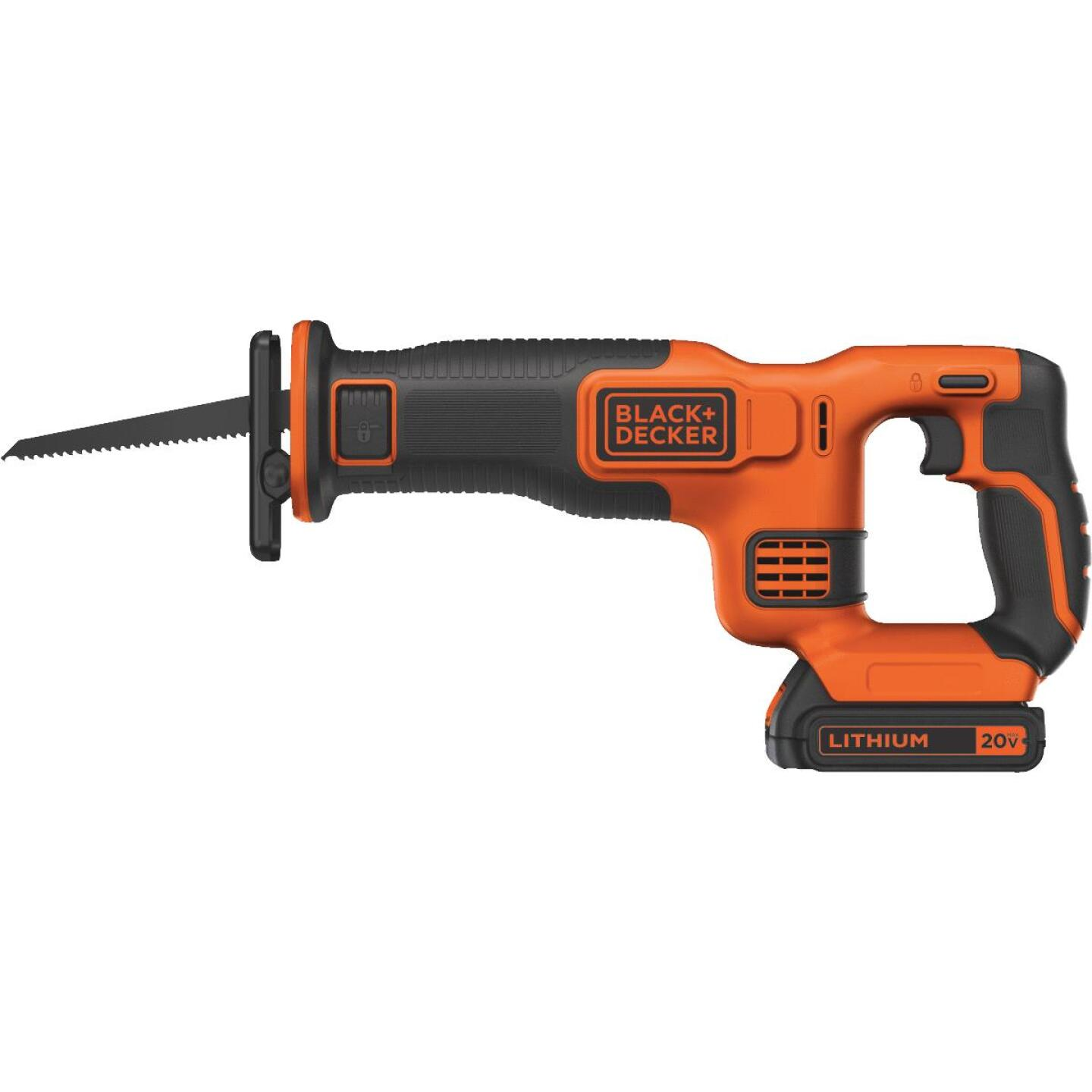 Black & Decker 20 Volt MAX Lithium-Ion Cordless Reciprocating Saw Kit Image 1