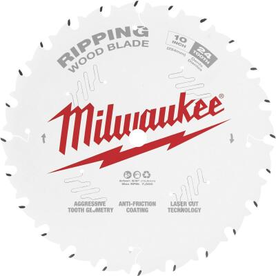 Milwaukee 10 In. 24 Tooth General Purpose Ripping Circular Saw Blade