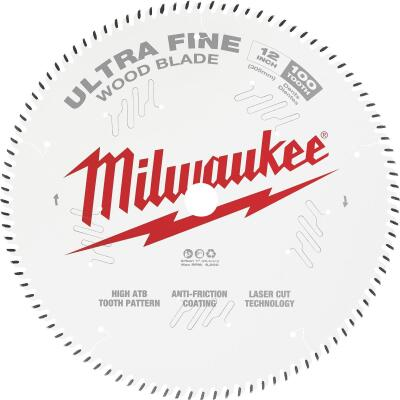Milwaukee 12 In. 100-Tooth Ultra Fine Finish Circular Saw Blade