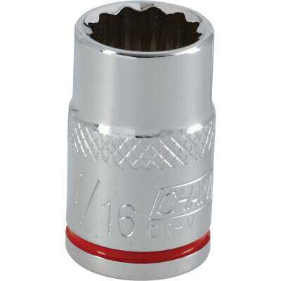 Channellock 3/8 In. Drive 7/16 In. 12-Point Shallow Standard Socket