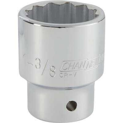 Channellock 3/4 In. Drive 1-3/8 In. 12-Point Shallow Standard Socket