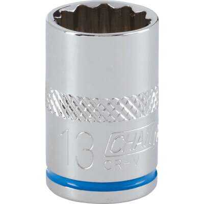 Channellock 3/8 In. Drive 13 mm 12-Point Shallow Metric Socket