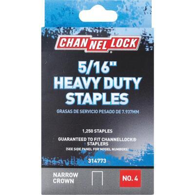 Channellock No. 4 Heavy-Duty Narrow Crown Staple, 5/16 In. (1250-Pack)