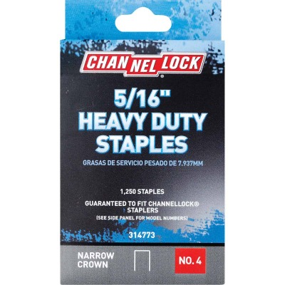 Channellock No. 4 Heavy-Duty Narrow Crown Staple, 5/16 In. (1250-Pack)