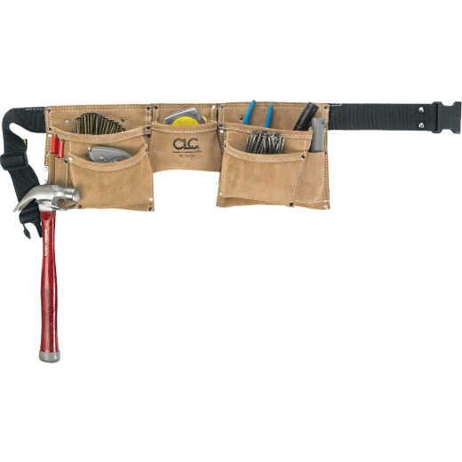 CLC 8-Pocket Suede Leather Heavy-Duty Carpenter Apron