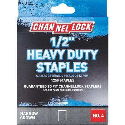 Channellock No. 4 Heavy-Duty Narrow Crown Staple, 1/2 In. (1250-Pack)