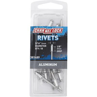 Channellock 3/16 In. Dia. x 1/8 In. Grip Aluminum POP Rivet (18-Pack)