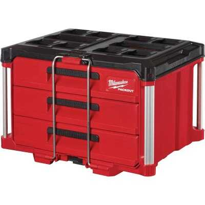 Milwaukee PACKOUT 3-Drawer Toolbox, 50 Lb. Capacity