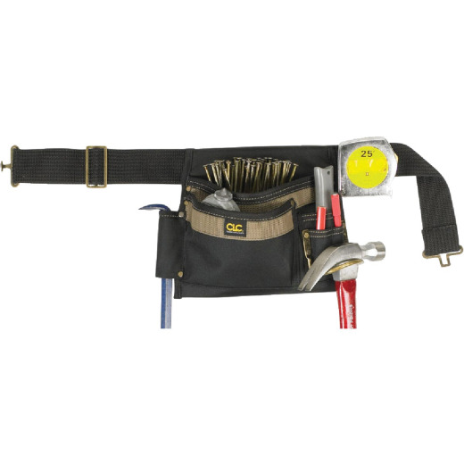 CLC 6-Pocket Polyester & Ballistic Nylon Single Side Carpenter Apron