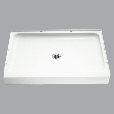 Sterling Ensemble 48 In. W x 34 In. D Center Drain Shower Floor & Base in White