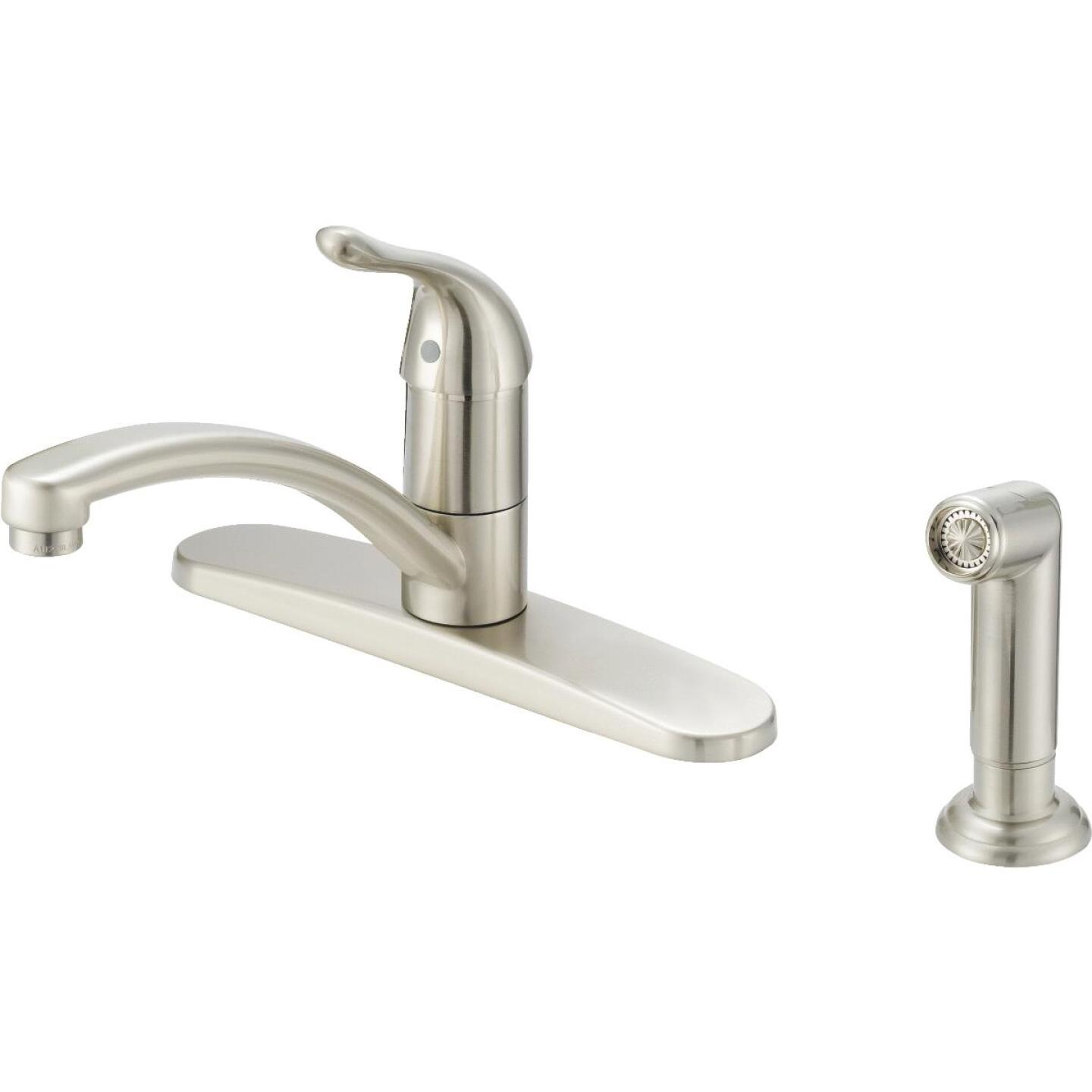 Home Impressions Single Handle Lever Kitchen Faucet with Side Spray, Brushed Nickel Image 1