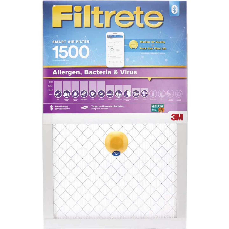 3M Filtrete 16 In. x 25 In. x 1 In. 1500 MPR Allergen, Bacteria & Virus Smart Furnace Filter Image 1